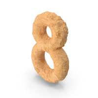 Stone Alphabet Number 8 PNG & PSD Images