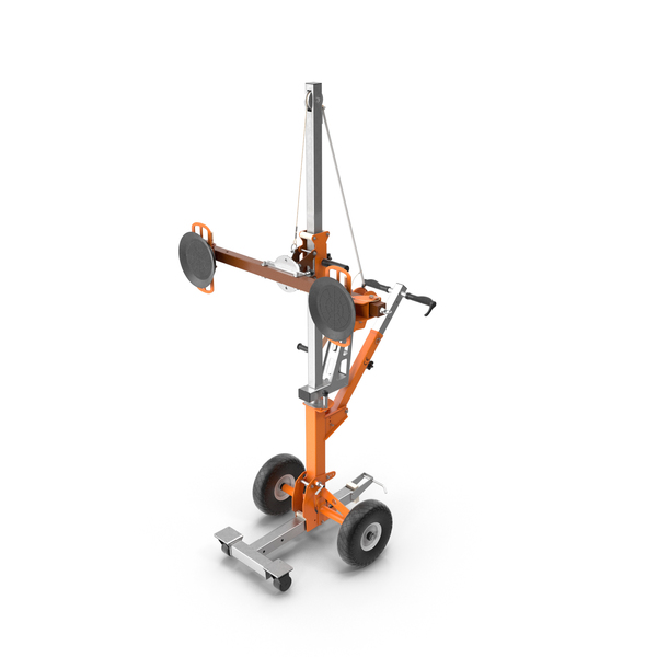 Portable Glass Vacuum Lifting Trolley PNG & PSD Images