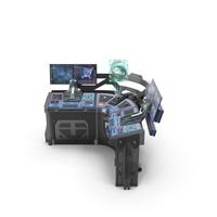 Sci Fi Corner Control Panel PNG & PSD Images