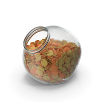 Spherical Jar with Mixed Crinkle Cut Wavy Potato Chips PNG & PSD Images
