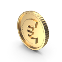 Bright Gold Coin Euro PNG & PSD Images