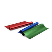 Three Blue and Red and Green Paper Rolls for Gifts PNG & PSD Images