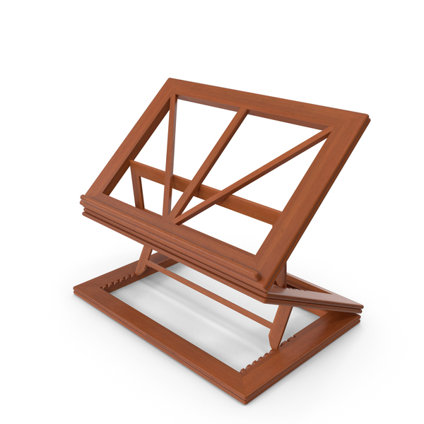 Collapsible Wooden Book Stand PNG & PSD Images