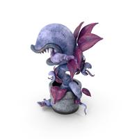 Monster Plant Blue PNG & PSD Images