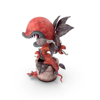 Monster Plant Red PNG & PSD Images