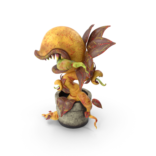Monster Plant Yellow PNG & PSD Images