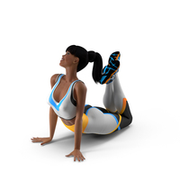 Light Skin Fitness Woman Lying Pose PNG & PSD Images