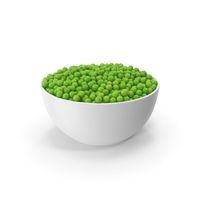 Ceramic Bowl With Green Peas PNG & PSD Images