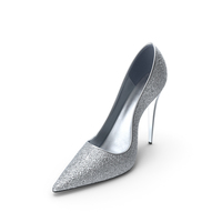 Women's Shoes Silver PNG & PSD Images