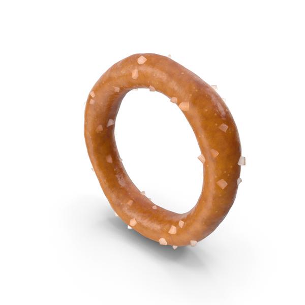 Mini Pretzel Ring with Salt PNG & PSD Images