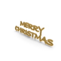 Gold Tree Symbol Merry Christmas PNG & PSD Images