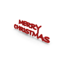 Red Foil Tree Symbol Merry Christmas PNG & PSD Images