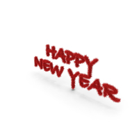 Red Foil Tree Symbol Happy New Year PNG & PSD Images