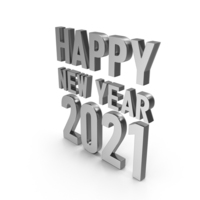 Happy New Year 2020 Symbol Silver PNG & PSD Images