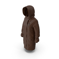 Womens Down Jacket Brown PNG & PSD Images