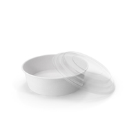Paper Food Bowl with Clear Lid for Soup for Salad 20 Oz 500 ml Open PNG & PSD Images