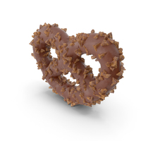 Chocolate Covered Mini Pretzel with Nuts PNG & PSD Images