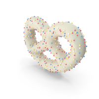 Yogurt Covered Mini Pretzel with Colored Pops PNG & PSD Images