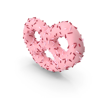 Strawberry Yogurt Covered Mini Pretzel With Pops PNG & PSD Images