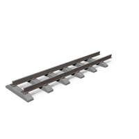 Train Tracks with Brick Block PNG & PSD Images