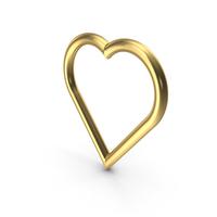 Golden Heart PNG & PSD Images