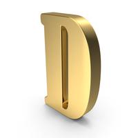 Gold Letter D PNG & PSD Images