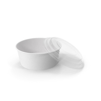 Paper Food Bowl with Clear Lid for Soup for Salad 26 oz 750 ml Open PNG & PSD Images