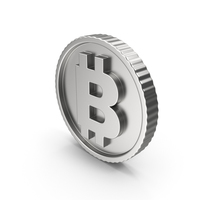 Bitcoin Silver PNG & PSD Images