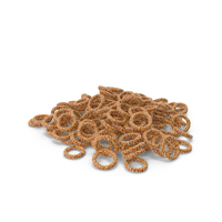 Pile Of Mini Pretzel Rings with Sesame PNG & PSD Images