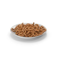 Plate with Pretzel Rings and Sticks with Sesame PNG & PSD Images