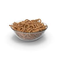 Bowl with Mixed Mini Pretzels with Sesame PNG & PSD Images