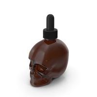 Dark Medical Glass Skull Dropper Bottle PNG & PSD Images