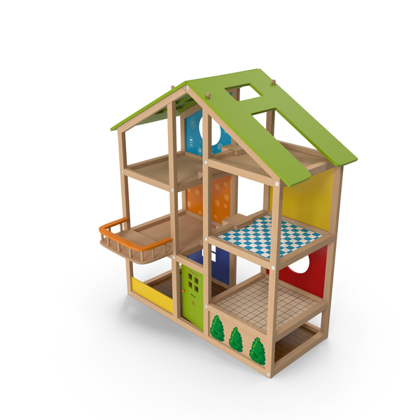 All Seasons Kids Wooden Dollhouse by Hape PNG & PSD Images