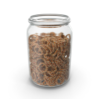 Jar With Sesame Rings PNG & PSD Images