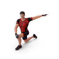Athletic Man Doing Lunge And Twist PNG & PSD Images