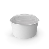 Paper Food Bowl with Clear Lid for Soup for Salad 32 Oz 1000 ml Mockup PNG & PSD Images