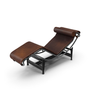 Modern Chaise Lounge Dirty Brown PNG & PSD Images
