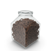 Square Jar With Chocolate Covered Rings With Nuts PNG & PSD Images
