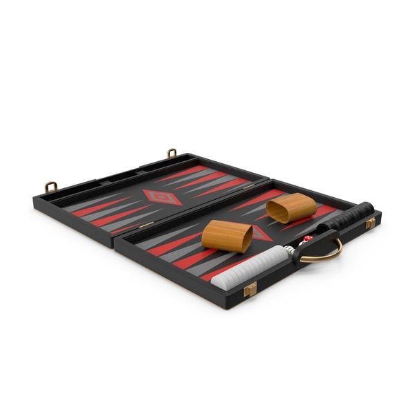 Black Backgammon Board Game Set PNG & PSD Images