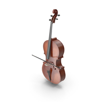 Cello Instrument With Bow PNG & PSD Images