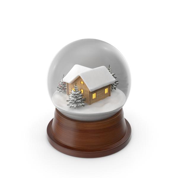 Christmas Snowglobe with House Inside PNG & PSD Images