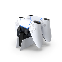 DualSense Wireless Game Controller on Charging Station PNG & PSD Images