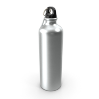 Aluminum Sport Water Bottle with Carabiner PNG & PSD Images