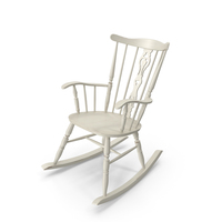 Antique Wooden Rocking Chair PNG & PSD Images