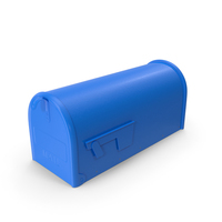 Blue Painted Mailbox PNG & PSD Images