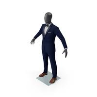 Blue Tuxedo Suit PNG & PSD Images