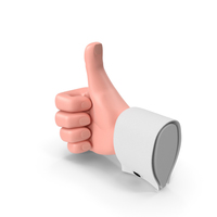 Cartoon Man Hand Thumbs-Up Gesture PNG & PSD Images