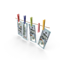 Dollars On Clothespins PNG & PSD Images