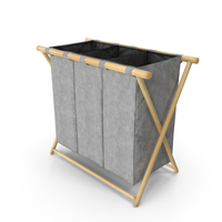 Foldable Laundry Basket Empty PNG & PSD Images