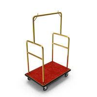 Gold Hotel Luggage Cart PNG & PSD Images